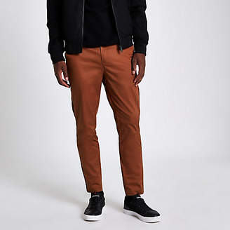 River Island Coral pipe skinny fit chino pants