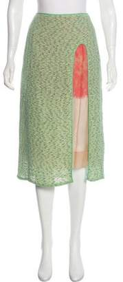 Marc Jacobs Silk-Blend Midi Skirt w/ Tags
