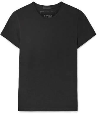 ATM Anthony Thomas Melillo Stretch-pima Cotton Jersey T-shirt - Black