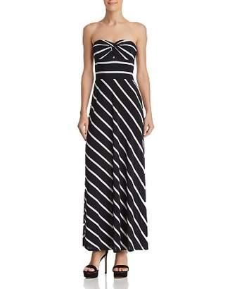 Aqua Strapless Striped Maxi Dress - 100% Exclusive