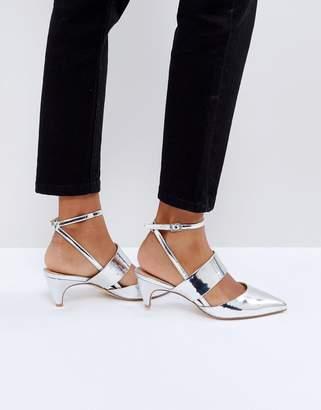Office Maple Metallic Kitten Heel Shoes