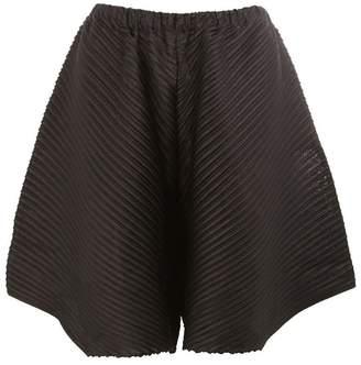 Pleats Please Issey Miyake embossed pleats asymmetric shorts