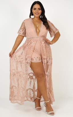 5eacc917cbf Showpo Lets Get Loud maxi playsuit in blush lace - 6 (XS) Occasion