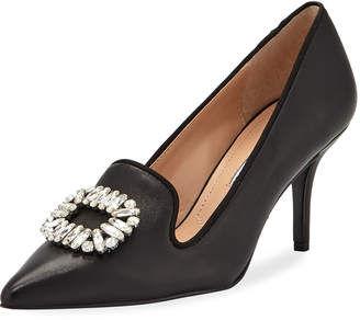 Charles David Amari Leather Loafer Pumps with Buckle Detail