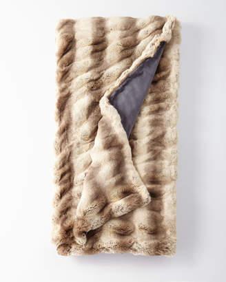 Fabulous Furs Faux-Fur Throw Blanket in Truffle Chinchilla