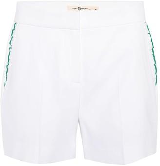 Tory Sport Ruffle-trimmed shorts