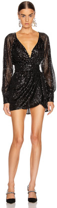 Marissa Webb Poppie Sequin Dress in Black | FWRD