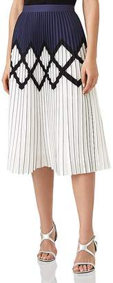 Reiss Elsa Pleated Midi Skirt