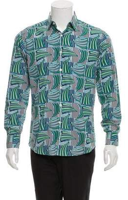 Salvatore Ferragamo Abstract Print Button-Up Shirt w/ Tags