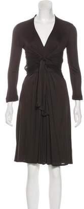 Gucci Tie-Front Midi Dress
