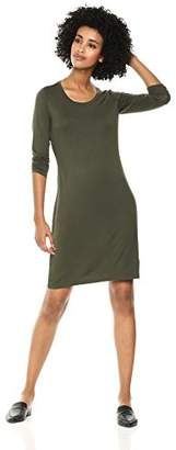 Daily Ritual Women's Jersey 3/4-Sleeve Scoop-Neck T-Shirt Dress