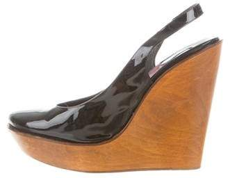 Chloé Prada Patent Leather Platform Wedges