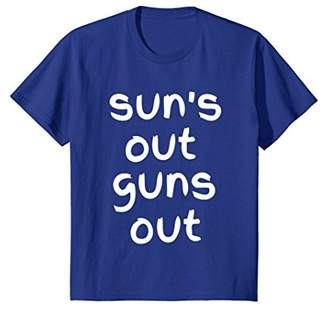 Sun's Out Guns Out White Fitness Tee Shirt