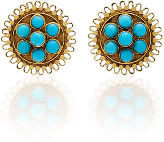 Amrapali 18K Gold Turquoise Earrings