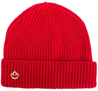 DSQUARED2 logo plaque beanie