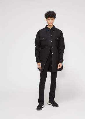 Rick Owens Silk Mole Silicone Patch Oversized Outershirt