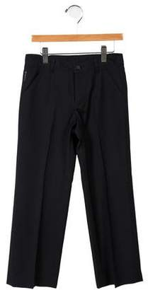 Armani Junior Boys' Wool Mid-Rise Pants
