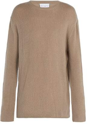 Raey Open Knit Summer Cashmere Sweater - Mens - Grey