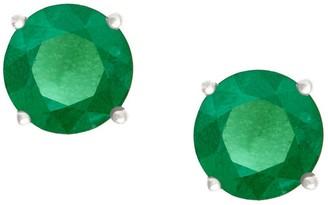 Premier 3/4 cttw Round Emerald Stud Earrings, 14K