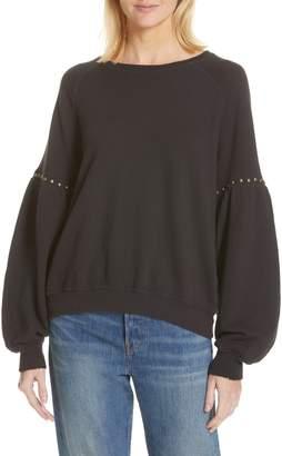 The Great The Bishop Sleeve Studded Sweatshirt