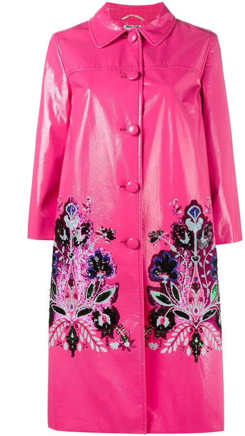 Miu MiuMiu Miu sequin embellished coat
