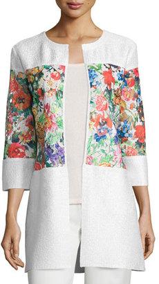 Berek Floral-Inset Crinkle Jacket $168 thestylecure.com