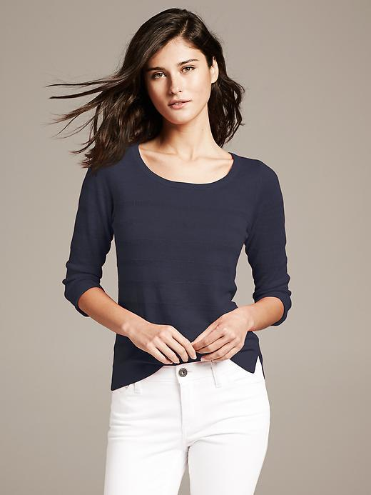 Banana Republic Textured Stripe Crew