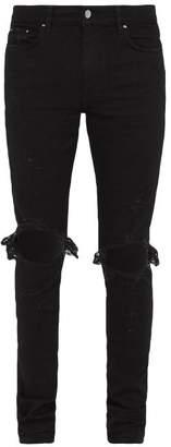 Amiri Thrasher Slim Leg Distressed Jeans - Mens - Black
