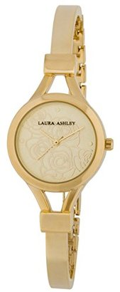 Laura Ashley Women's Quartz Metal and Polyurethane Casual Watch, Color:Gold-Toned (Model: LA31019YG) $133.08 thestylecure.com
