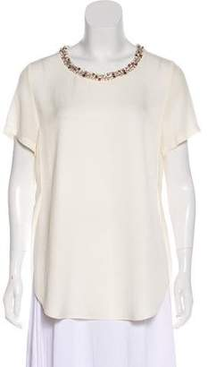 3.1 Phillip Lim Embellished Short Sleeve Blouse