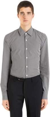 Prada Slim Fit Cotton Gingham Shirt
