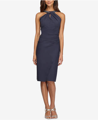 Alex Evenings Embellished Keyhole Sheath Dress
