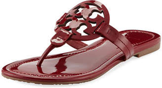 23c5f301f ... Tory Burch Miller Medallion Patent Leather Flat Thong Sandals