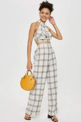 Love **Checked Tie Front Trousers