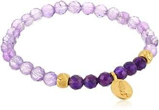 Satya Jewelry Amethyst Gold Stretch Bracelet