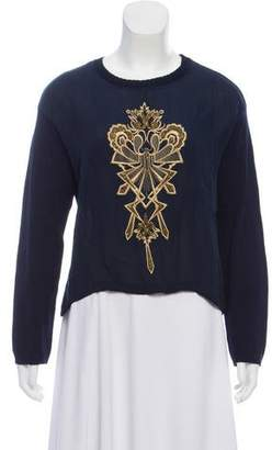 Sass & Bide Silk-Blend Embellished Knit Sweater