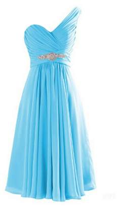CaliaDress Women One Shoulder Bridesmaid Dress Prom Evening Gowns Short C273LF US