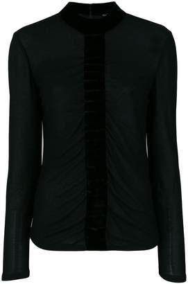 Tom Ford velvet trim blouse