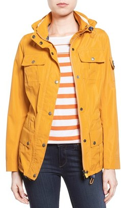 Women's Barbour 'Bowline' Hooded Waterproof Jacket $299 thestylecure.com