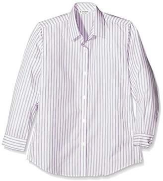 Trutex Girl's 2Pk E/C L/S Contemp Blouse,Outstanding Pur/Wht,3, Purple, (Size:30)