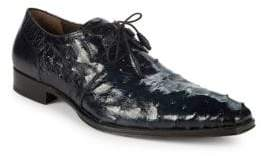 Mezlan Ostrich Leather Derbys