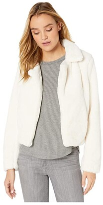 Blank NYC Faux Fur Crop Jacket in Baby Spice