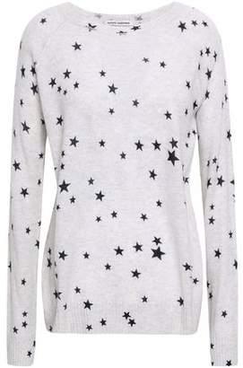 Autumn Cashmere Melange Printed Cashmere Sweater
