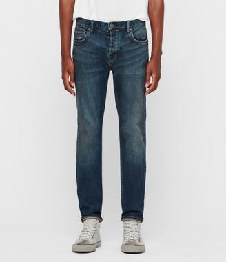 AllSaints Carter Straight Jeans, Washed Indigo