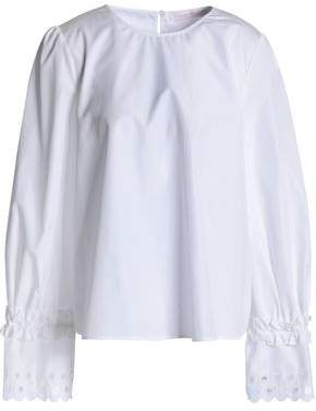 See by Chloe Embroidered Cotton-Poplin Tunic