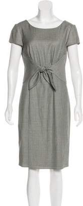 Armani Collezioni Virgin Wool Sheath Dress