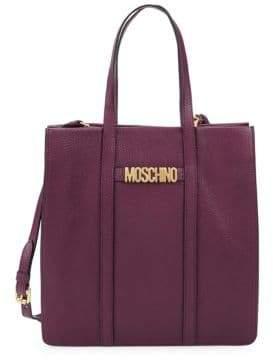 Moschino Viola Leather Tote