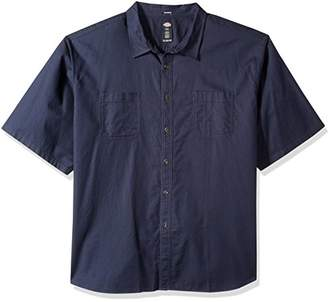 Dickies Men's Tall Relaxed Fit Solid Short Sleeve Shirt Big