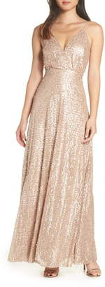LuLu*s Sequin A-Line Gown