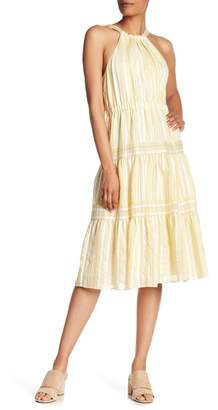 Rebecca Taylor Stripe Halter Dress